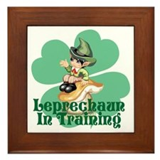 Leprechaun In Training Framed Tile