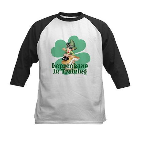 Leprechaun In Training Kids Baseball Jersey