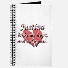 Justina broke my heart and I hate her Journal