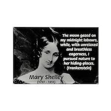 Mary Shelley Frankenstein Rectangle Magnet