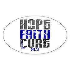 HOPE FAITH CURE ALS Oval Decal