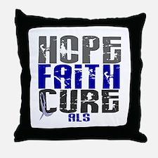 HOPE FAITH CURE ALS Throw Pillow