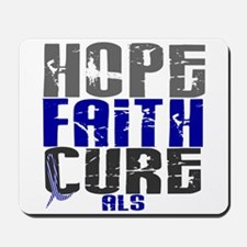 HOPE FAITH CURE ALS Mousepad
