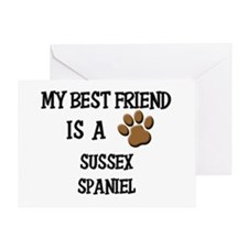 My best friend is a SUSSEX SPANIEL Greeting Card