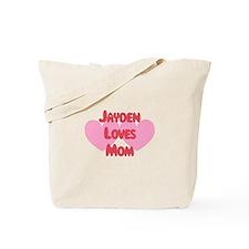 Jayden Loves Mom Tote Bag