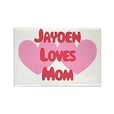 Jayden Loves Mom Rectangle Magnet