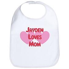 Jayden Loves Mom Bib