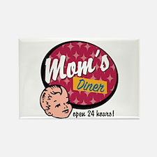 Mom's Diner Rectangle Magnet