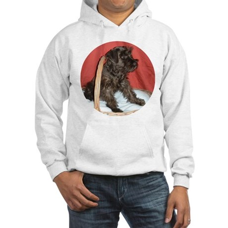 Black Miniature Schnauzer Hooded Sweatshirt