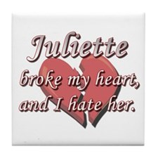 Juliette broke my heart and I hate her Tile Coaste