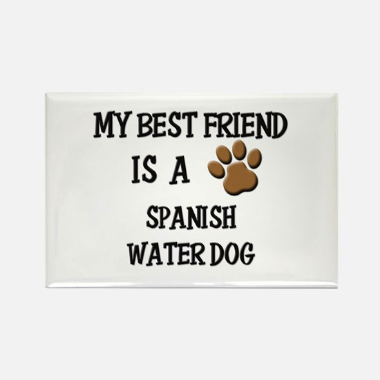 My best friend is a SPANISH WATER DOG Rectangle Ma