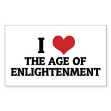 I Love The Age Of Enlightenme Sticker (Rectangular