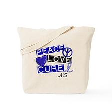 PEACE LOVE CURE ALS (L1) Tote Bag