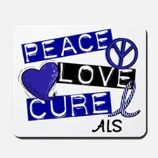 PEACE LOVE CURE ALS (L1) Mousepad