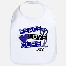 PEACE LOVE CURE ALS (L1) Bib