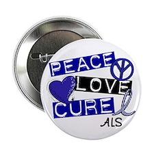 """PEACE LOVE CURE ALS (L1) 2.25"""" Button (10 pack)"""