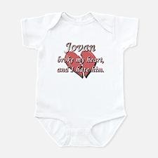 Jovan broke my heart and I hate him Infant Bodysui