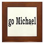 go Michael Framed Tile