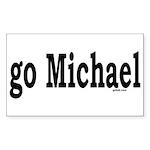 go Michael Rectangle Sticker