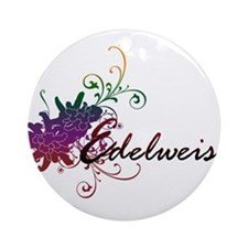 Cute Growing flowers Ornament (Round)