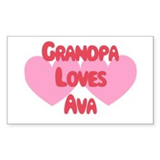 Grandpa Loves Ava Rectangle Decal