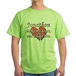 Jonathon broke my heart and I hate him Green T-Shi