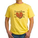 Jonathon broke my heart and I hate him Yellow T-Sh