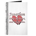 Jonathon broke my heart and I hate him Journal