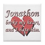 Jonathon broke my heart and I hate him Tile Coaste