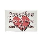 Jonathon broke my heart and I hate him Rectangle M