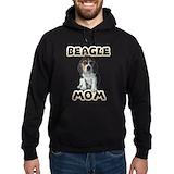Beagle mom Hoodie (dark)