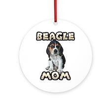 Beagle Mom Ornament (Round)