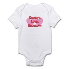Grandpa Loves Brooklyn Infant Bodysuit