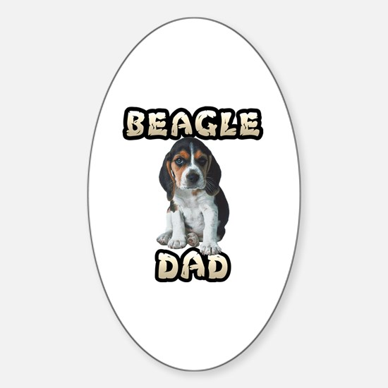 Beagle Dad Sticker (Oval)