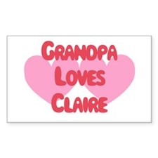 Grandpa Loves Claire Rectangle Decal