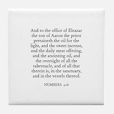 NUMBERS  4:16 Tile Coaster