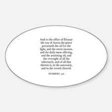NUMBERS 4:16 Oval Decal