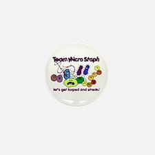 I Love Bacteria Mini Button (10 pack)