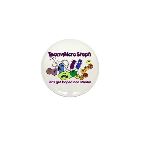 I Love Bacteria Mini Button