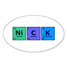 Nick Oval Decal