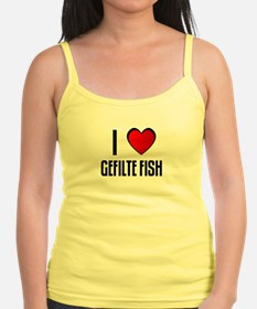 I LOVE GEFILTE FISH Jr.Spaghetti Strap