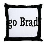 go Brad Throw Pillow