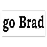 go Brad Rectangle Sticker