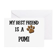 My best friend is a PUMI Greeting Cards (Pk of 20)