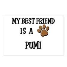 My best friend is a PUMI Postcards (Package of 8)