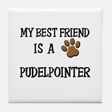 My best friend is a PUDELPOINTER Tile Coaster