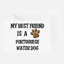 My best friend is a PORTUGUESE WATER DOG Greeting