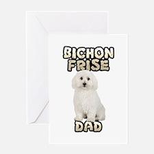 Bichon Frise Dad Greeting Card