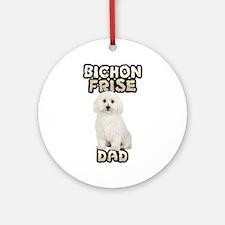 Bichon Frise Dad Ornament (Round)