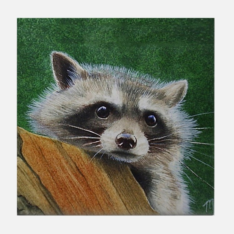Raccoon Tile Coaster